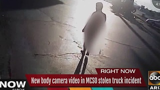 New body camera video released in MCSO stolen truck incident shows woman stealing vehicle