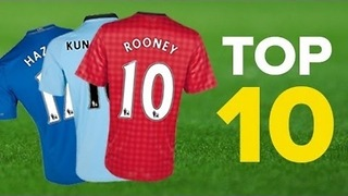 10 Best Selling UK Football Shirts 2013 - Video