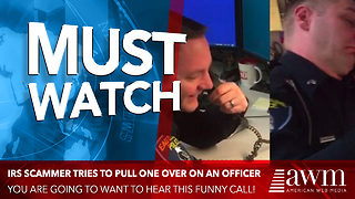 IRS Scammer Has No Idea He Just Called A Cop, Leads To Hilarious Exchange - Video