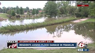 Residents assess flood damage in Franklin