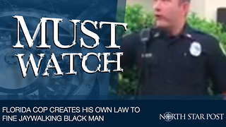 Florida Cop Creates His Own Law To Fine Jaywalking Black Man - Video