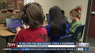 Henderson schools to get $1 million for new equipment - Video