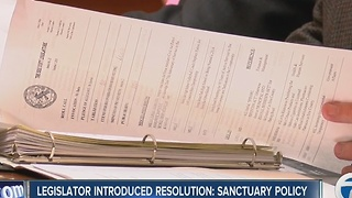 Legislator introduces resolution: Sanctuary policy - Video