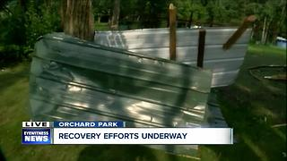 Tornado rolls through Orchard Park