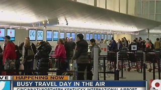 CVG expects a busy travel day in the air - Video