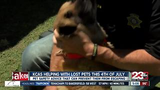 Kern County Animal Services offers programs to help find your pet if they escape 4th of July weekend - Video