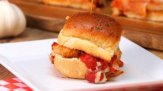 Chicken Parmesan Sliders - Video