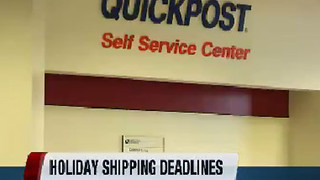 Postal Service mailing deadlines - Video