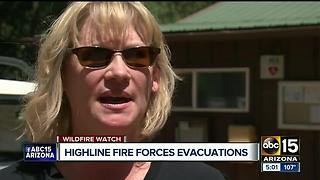 Wildfire forces evacuations near Payson - Video