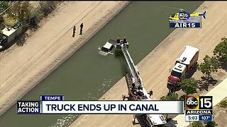 AIR15: Driver crashes into canal in Tempe - Video