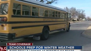 Bartlesville schools prepare for possible ice storm - Video