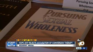 Hope 2017 rejects accusation of conversion therapy - Video