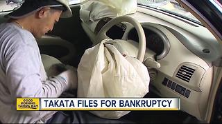 Takata files for bankruptcy, overwhelmed by air bag recalls - Video