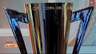 Star Goalie Tony Meola brings the Gold Cup to The Blend! - Video