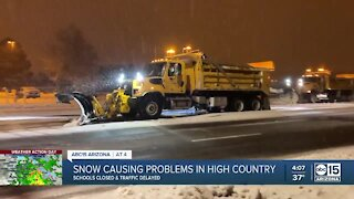 Snow causing problems in the high country
