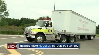 Local task force returns home after completing rescue missions in flood-ravaged Texas - Video