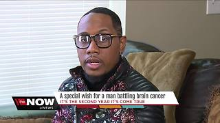 A special wish for a man battling brain cancer - Video