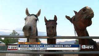 Hundreds without therapy while Las Vegas horse therapy ranch searches for new land - Video