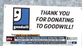Woman says Southern Highlands Goodwill items are being stolen, sold online - Video