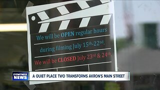 A Quiet Place 2 transforms Main Street in Akron