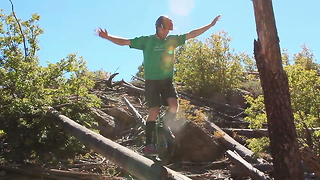 World Champion Unicyclist Max Schulze Shows Off His Skills - Video
