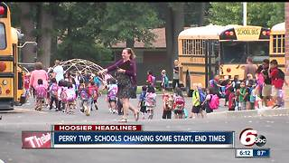 Perry Township adjusts school start, end times due to enrollment increase - Video