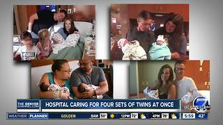 Lutheran Medical Center in Wheat Ridge has four sets of twins at once - Video