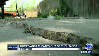 Homeowner warning others about concrete contractor who allegedly scammed him out of thousands - Video