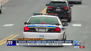 """School resource officer dies of """"self-inflicted gunshot wound"""" in his office at high school"""