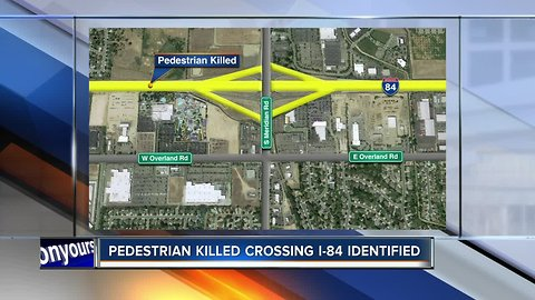 Pedestrian killed crossing I-84 in Meridian identified