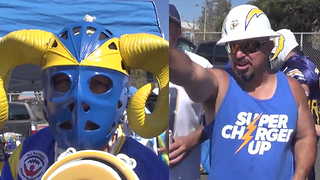 Rams and Chargers Fans FIGHT Over Who Represents LA - Video