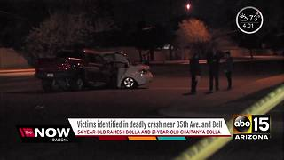 Police identify victims killed in north Phoenix crash