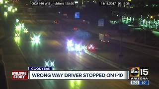 Wrong-way driver stopped on I-10 near Litchfield - Video