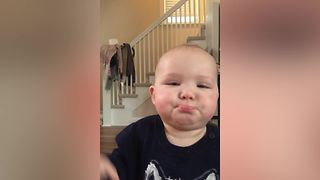 "Baby Boy Makes Fart Sound Instead of Saying ""Mama"" - Video"