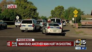 Double shooting in Phoenix leaves one man dead - Video