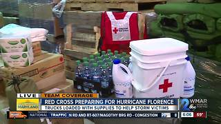 American Red Cross prepares for Florence in Maryland - Video