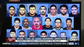 Multiple gang members indicted, arrested - Video