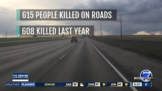 More people have died on Colorado roads this year than in 2016 - Video