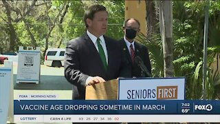 Governor DeSantis drops vaccine age