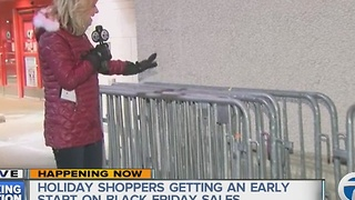 The search is on for big lines, most shoppers snag deals early - Video