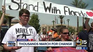 Thousands participate in March For Our Lives event in Phoenix - Video