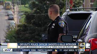 Police: Off-duty Baltimore City officer shoots, kills suspect who broke into his home - Video