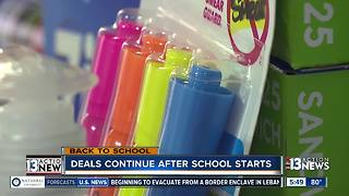 School supply deals still available - Video