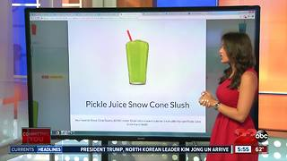 Sonic's new pickle juice slush - Video