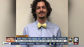 Bike ride for man hit and killed in Towson