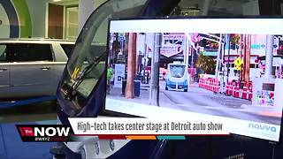High tech takes center stage at Detroit auto show - Video
