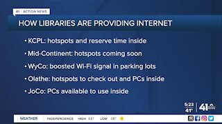 Libraries providing internet access