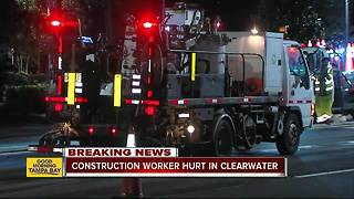 Construction worker suffers life-threatening injuries after thrown from work truck in Clearwater - Video