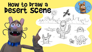 How to draw a Desert Scene