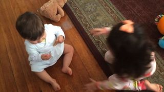 Babies Playfully Fighting - Video